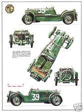 1933 MG Mille Miglia Magnette K-3, Refrigerator Magnet, 40 Mil