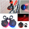 Bicycle 2 Laser 5 LED Lamp Light Rear Flash Cycling MTB Bike Tail Safety Warning