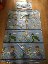 """TOY STORY SINGLE Reversible Duvet Cover And Pillowcase Set """"WANTED"""" - Used"""