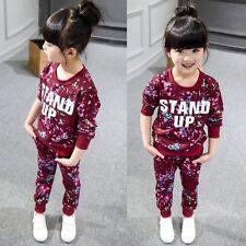 2pcs Toddler Infant Kids Girls Outfits Tops Dress + Long Pants Kids Clothes Set