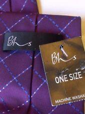 MENS NEW BHS PURPLE & BLUE TIE EXCELLENT QUALITY   #  106