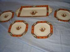 alfred meakin jamaica pattern  cake/sandwich set plates etc vintage antique