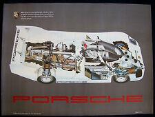 PORSCHE OFFICIAL 962 RACECAR SHOWROOM GHOST SEE-THROUGH POSTER 1988 USA RARE