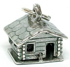 VINTAGE SILVER OPENING SWISS SKI LODGE CHARM