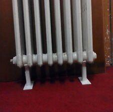 pieds pour radiateurs en fonte  réglable 62mm diameter x2 blanc