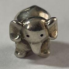 Pandora Standing Elephant Charm Bead Sterling Silver Jewelry .925 Animal 3-D