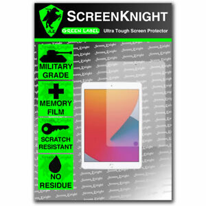 """ScreenKnight Apple iPad 10.2"""" (2020) FRONT PROTECTOR Military Shield"""