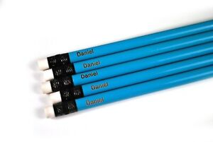 Personalized 14 Baby Blue Pencils