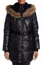 NEW RUD RUDSAK Faux Fur Hooded Valente Coat PARKA DOWN PUFFER WINTER BLACK $550