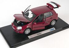 BLITZ VERSAND Volkswagen VW Golf V 5  bordeaux Welly Modell Auto 1:18 NEU & OVP