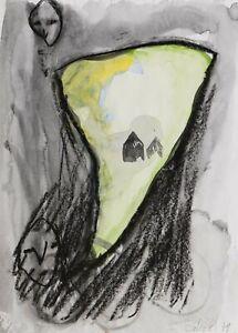 Martin Disler, original hand signed drawing from 1979