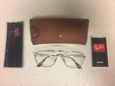 Ray-Ban General Optics RB6389 Aviator Frames Silver 55 16 Prescription Glasses