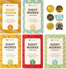 500+ Sight Words Flash Cards Bundle Set (Preschool, Kindergarten, 1st, 2nd & 3rd