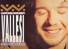 PAOLO VALLESI disco LP 33 giri LA FORZA DELLA VITA 1992 MADE in ITALY + inner