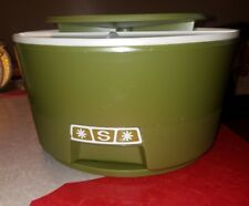 Vintage rubbermaid Lazy Susan 3 Canister Set,  Sugar Coffee Tea retro Avocado