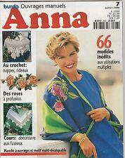 Anna Burda Ouvrages Manuels N°7 juillet 1996 tricot, vêtements poupée, fuseaux
