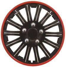 Streetwize Lightning Sports 14 Inch Wheel Trim Set Black Red Set of 4 Hub Caps