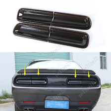 For 2015-2020 Dodge Challenger Smoked black Rear Tail Light Lamp Cover Trim 4pcs