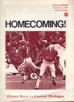 Illinois State vs. Central Michigan 1971 Football Program 071517nonjhe