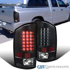 Fit 02-06 Dodge Ram 1500 2500 3500 Pickup Black LED Tail Lights Rear Lamps Pair