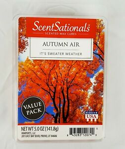 Value Pack SCENTSATIONALS Scented Wax Cubes AUTUMN AIR •• 5 Ounce ••