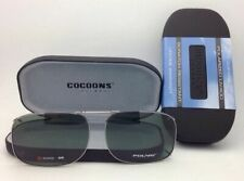 COCOONS Grey Polarized Sunglasses/Eyeglasses Over Rx Clip-on SQR 2-56 Gunmetal