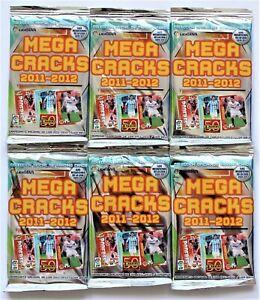 Panini Megacracks La Liga BBVA Spain 2011-2012 - 6 x pack find Messi + Ronaldo