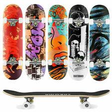 Skateboard Deck Funboard Holzboard Komplett Board 80x20cm Ahornholz Auswahl DE