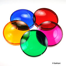 """Lens Covers for Hot Tub & Spa Light -  5 Color Quick Change - 3-1/4"""" OD"""