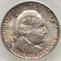 Vermont - Battle of Bennington Commemorative Silver Half Dollar 1927 MS63 PCGS