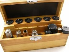 Wooden box with 6x eyepiece + few parts lens