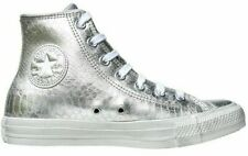 CONVERSE CHUCK TAYLOR SILVER LEATHER 542438c US Women Size 7, Euro 37.5