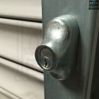 1 Pair Of Roller Shutter Loading Bay Door Bullet Locks Housings Oval Round Face