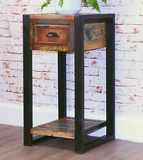 Urban Chic reclaimed wood indian furniture plant stand lamp side table