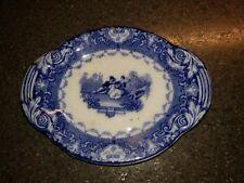 "Antique Royal Doulton,England Flow Blue ""Watteau"" Small Plate Trinket Dish"