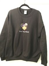 Baltimore Ravens/Orioles NFL MLB Black Sweatshirt Size L Love 'em Birds Gildan N