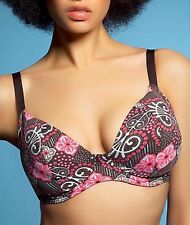 Freya Mystic Print Cola Underwired Flattering Bikini Swim TOP Size 38D Cute