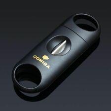 Cohiba Black Plastic Handle Stainless Steel V Blade Cigar Cutter Scissors