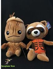 """Guardians of the Galaxy- Groot and Rocket Raccoon 8"""" Plush"""