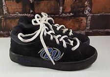 HEELYS Black/Blue Lace-Up Youth Kids Skate Roller Wheel Shoes (Sz 5 Y) 7434