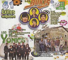 Los Bukis,Los Caminantes,Los Yonics 41 exitos BOX SET CAJA DE 3CD New Nuevo