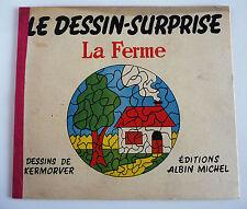 ANCIEN LIVRE POUR ENFANT / ALBUM A COLORIER / LE DESSIN SURPRISE / LA FERME