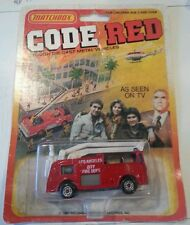 VINTAGE MATCHBOX 1981 CODE RED LOS ANGELES CITY FIRE SNORKEL TRUCK LESNEY NIP!