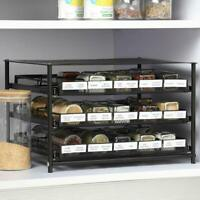 Pull Out Spice Drawer Kitchen Organization Containers for 30-60 Glass Bottle
