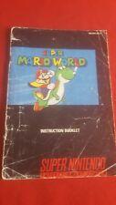 Super Nintendo Snes Super Mario World Manual  SNS-MW-USA-2