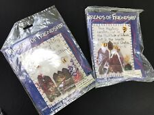 Pair Of Vintage New In Package Threads Of Friendship Felt Stitchery Kits