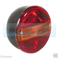 12V / 24V UNIVERSAL REAR ROUND HAMBURGER TAIL LAMP LIGHT WITH NUMBER PLATE LAMP
