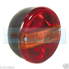 12V24V UNIVERSAL REAR ROUND HAMBURGER TAIL LAMP LIGHT WITH NUMBER PLATE LAMP