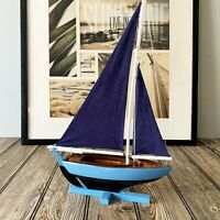 Handmade Wooden Pond Yacht Sailboat Model