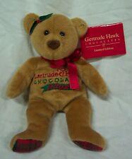 "Mary Meyer Gertrude Hawk 2002 TEDDY BEAR 7"" Bean Bag Stuffed Animal Toy NEW"